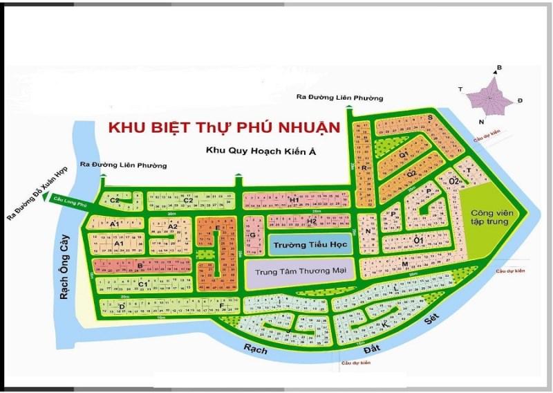 Cần bán đất nền dự án Phú Nhuận quận 9 có sổ đỏ