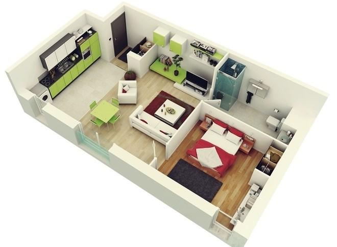 Bán căn hộ Nghĩa Đô tòa CT1B, 48m2,1PN, full nội thất, ở ngay, giá cắt lỗ.
