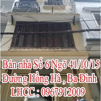 Bán nhà chính chủ Đường Hồng Hà , Ba Đình , Hà Nội