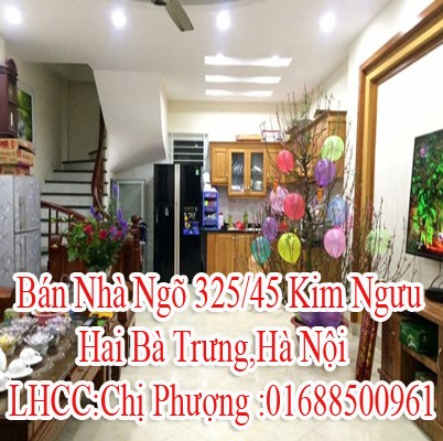 Bán Nhà Ngõ 325/45 Kim Ngưu,Hai Bà Trưng,Hà Nội