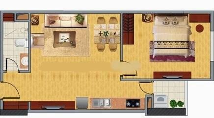 Bán căn hộ chung cư Nghĩa đô, 106 Hoàng  Quốc Việt, nhà thô, 45m2, cửa Nam.