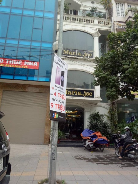 Cho thuê tòa nhà 7 tầng, thang máy, mặt phố Trần Thái Tông, Cầu Giấy. DT: 120m, MT: 7m.
