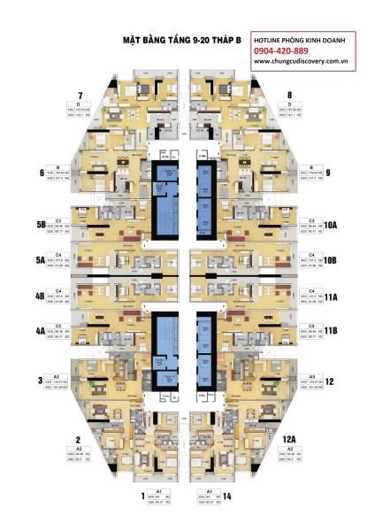 0984 874 975, Bán gấp CH Discovery 302 Cầu Giấy căn 1610B(91,88m2) & 1506 (137,4m2) giá 34 tr/m2