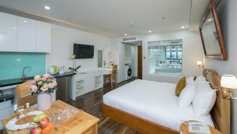 Cho thuê 3 tòa căn hộ lớn gần biển,full nội thất vào KD liền,65 tr/ tháng ,8 căn 1,2,3 ngủ