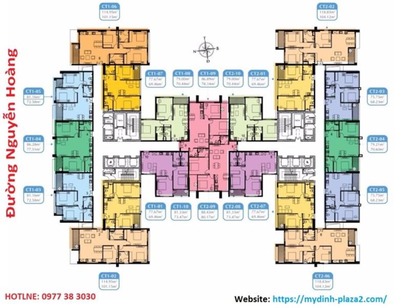 CC bán gấp CH Mỹ Đình Plaza 2, căn 1510 (73,47m2) & 1102 (101m2), giá 30tr/m2, LH 0984 874 975