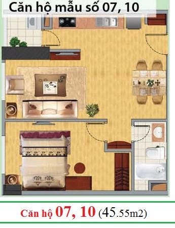 Bán căn hộ 46m2, full đồ, 1.550 tỷ Chung cư Nghĩa đô ngõ 106 Hoàng Quốc Việt