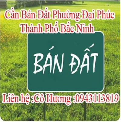 Cần Bán Đất Phường Đại Phúc, Thành Phố Bắc Ninh