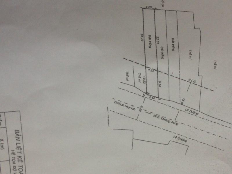 Bán nhà Mặt Tiền đường Phan Huy Ích, P.15, Q.Gò Vấp. DT: 4.4mx31.95m.
