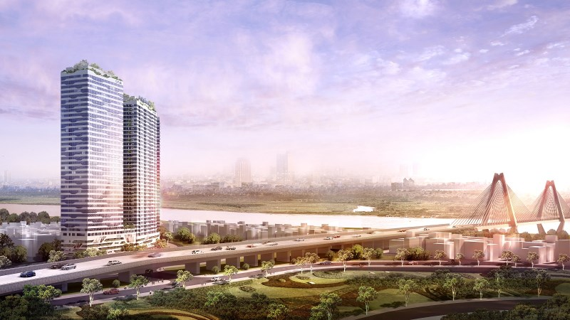 Cần bán căn góc Dự Án Intracom Riverside - Toà B tầng 23 căn 16 dt 66.8m2 ( view đẹp - chính chủ )