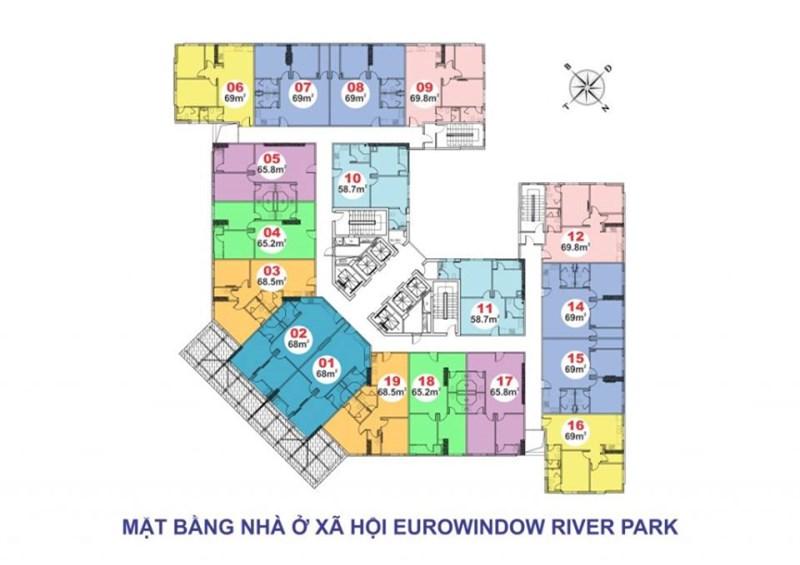 Chỉ cần 300tr nhận ngay căn hộ  Eurowindown Eiver Park cầu Đông Trù . LH : 01293200999