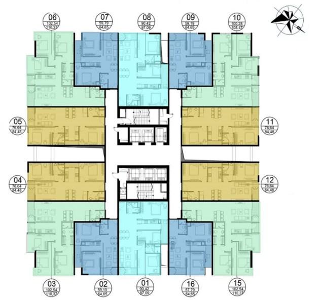 CC bán gấp CHCC GoldSeason, tòa Five, tầng 1502 (59,19m) và tầng 1701(90,42m), 22 tr/m2