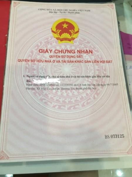 Chính chủ cần bán đất tại Vân Tảo, Thường Tín, Hà Nội