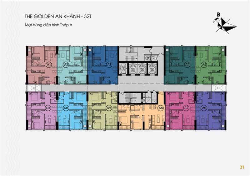 15tr/m2, Bán lỗ sâu CH Golden An Khánh, tòa 32T: căn B-1504 (66,8m2) & B-1201(65,9m2)