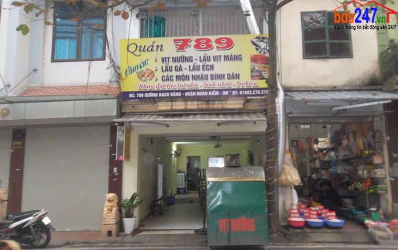 Sang nhượng quán ăn số 789 Bạch Đằng, Hai Bà Trưng, Hà Nội