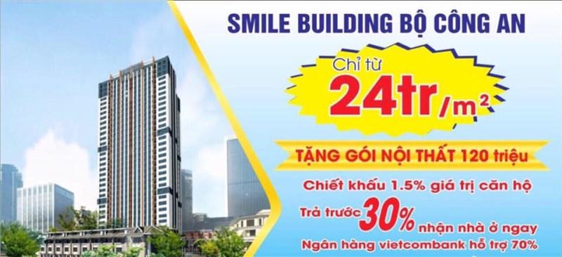 NHẬN NHÀ Ở LUÔN CĂN HỘ 2 NGỦ CHỈ 1.8 TỶ CC SMILE BUILDING C46 BỘ CÔNG AN
