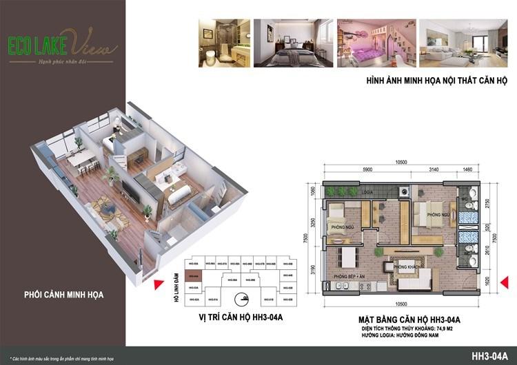 Bán căn hộ 73m2 view Hồ Linh Đàm tại 32 Đại Từ, Hoàng Mai, Hà Nội
