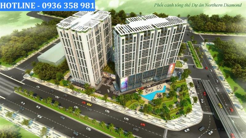 Bán suất ngoại giao căn hộ 2 Ngủ tại chung cư Northern Diamond, Long Biên, Hà Nội.Lh: 0936.358.981