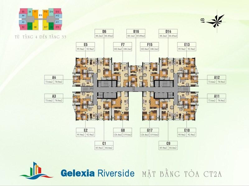 Cần bán căn 9 tòa CT2A khu đô thị Gelexia Riverside