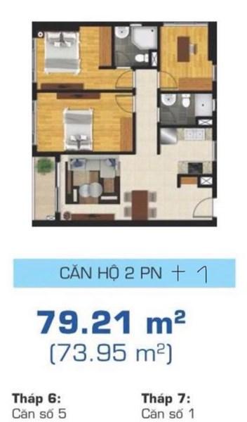 Chính chủ cần bán gấp : căn hộ 2+1pn dự án The Sun Avenue - Q2