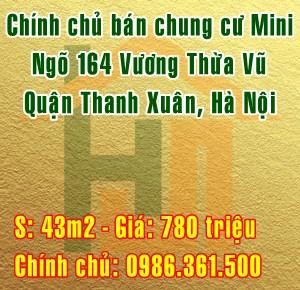 Cần bán chung cư Mini số 6 ngõ 164 Vương Thừa Vũ, Quận Thanh Xuân,Hà Nội