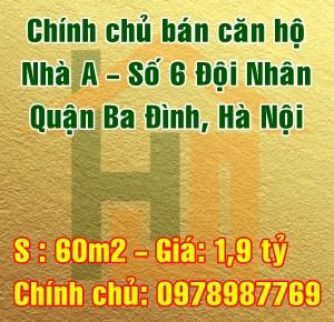 Bán chung cư số 6 Đội Nhân, Quận Ba Đình, Hà Nội