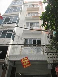 Cho thuê nhà 7 tầng, thang máy mặt phố Lạc long Quân, Tây hồ. Giá: 35 triệu/tháng.