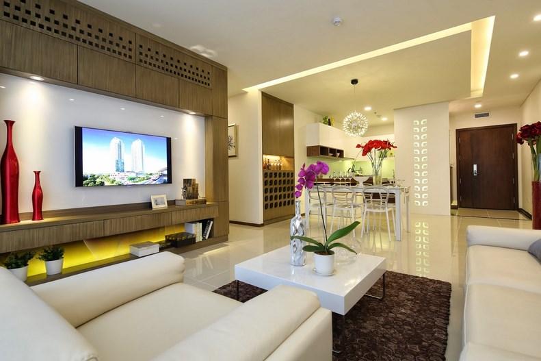 cần cho thuê gâp căn 3 ngủ full nội thất ở chung cư gelexia 885 tam trinh LH 0913365083