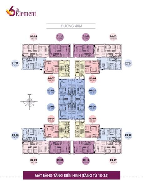 Hàng Ngoại Giao căn hộ ĐẸP NHẤT dự án 6th Element