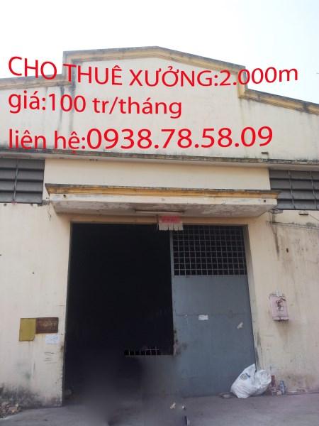 chothuê kho xưởng mã lò quận bỉnh tân 250m giá 20tr