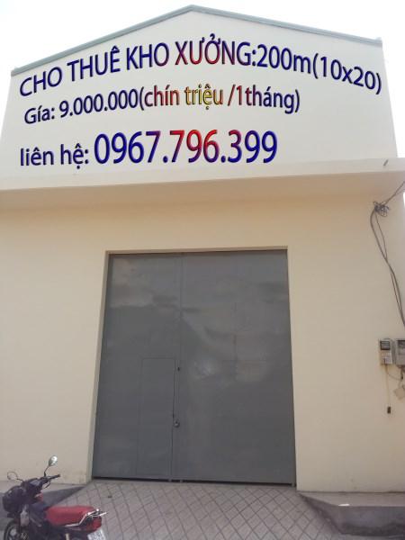 nhà xưởng đường phan anh  cho thuê 144m giá 14tr