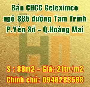 Bán chung cư Geleximco, ngõ 885 Tam Chinh, phường Yên Sở, quận Hoàng Mai