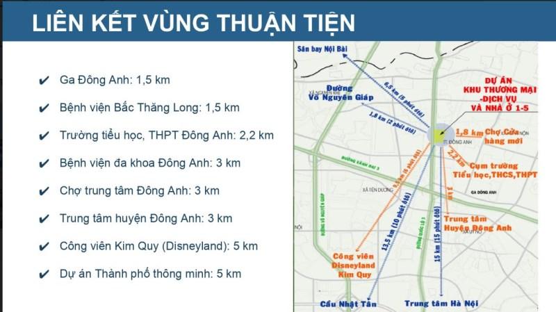 Bán liền kề tại Đông Anh cạnh QL3 cách sân bay Nội Bài 9km giá bao gồm xây dựng 54 tr/m2