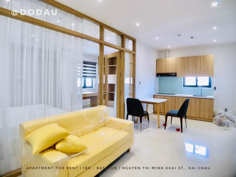 Cho thuê căn hộ mini gần đường Lê Lợi. Dt 35-40m2.