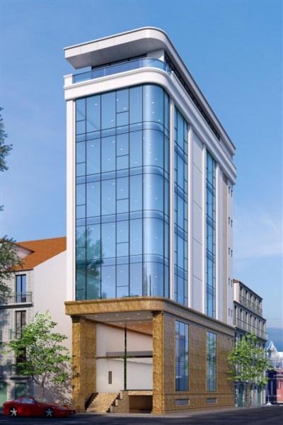 CHo thuê toà văn phòng 9 tầng mặt phố Hoàng Quốc Việt....Giá:17000 usd