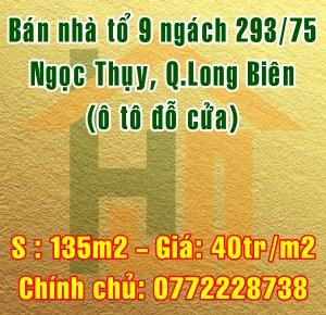 Bán nhà Quận Long Biên, tổ 9 ngách 293/75 Ngọc Thụy