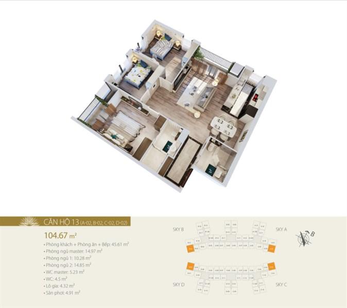 Bán căn hộ chung cư tại 423 Minh Khai, HTLS 0% 12 tháng, 10% kí HĐMB
