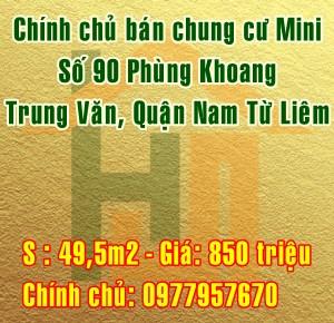 Bán chung cư mini số 90 Phùng Khoang, Trung Văn, Nam Từ Liêm