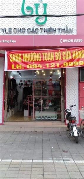 Nhượng hoặc cho thuê mặt bằng thời trang số 77 Trần Hưng Đạo, Thái Bình
