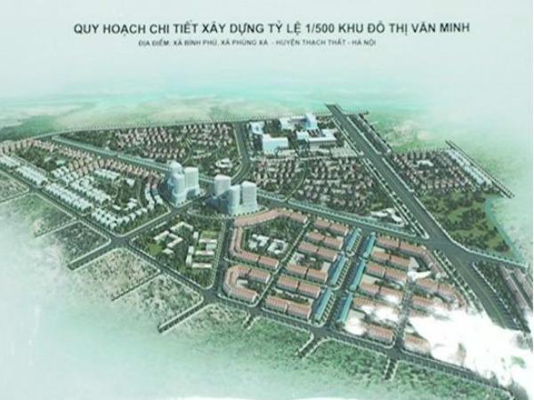 Hà Nội xây khu đô thị hơn 123ha ở Thạch Thất